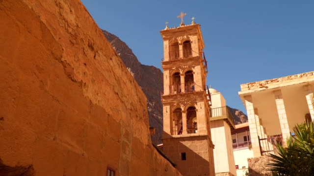 Tower in the monastery of St. Catherine video