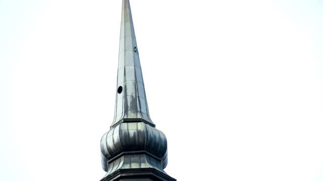 A tower of a church in Tallin video