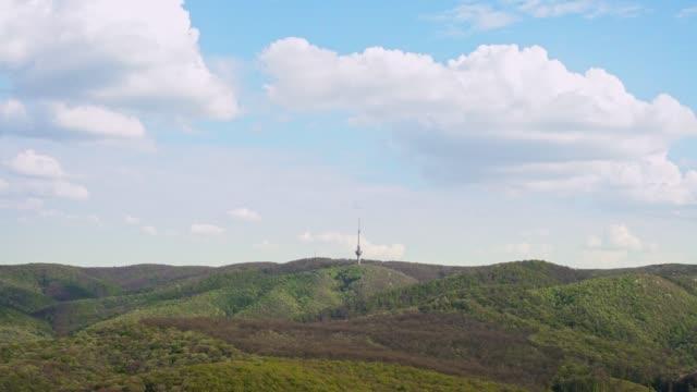 TV tower seen from Mountain top Orlovo Bojiste at Fruska Gora National Park