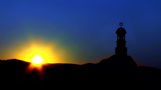 Tower with David Star in Sunrise video