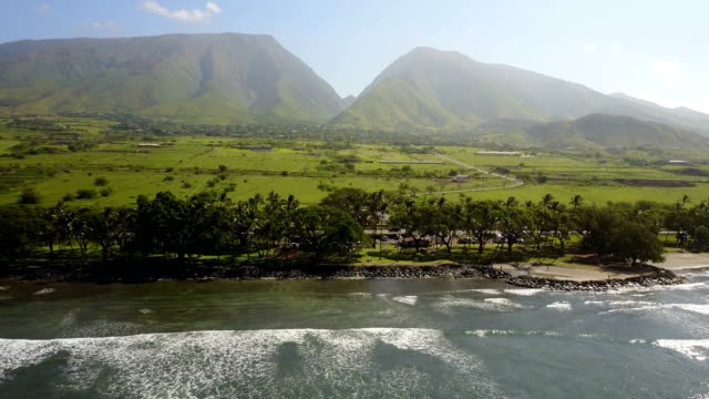 Towering Mountain Peaks in Distance on Island of Maui video