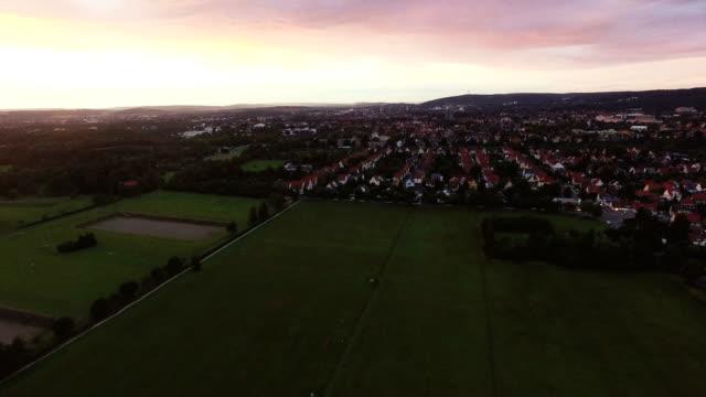 Town Aerial During Sundown video