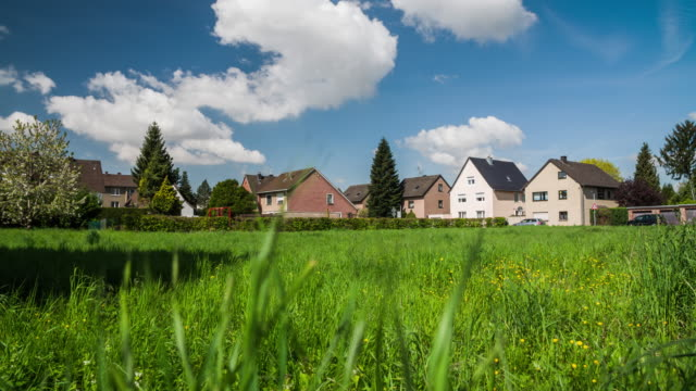 CRANE SHOT: Town Houses in Germany video