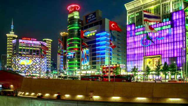 Town Square In Seoul City video