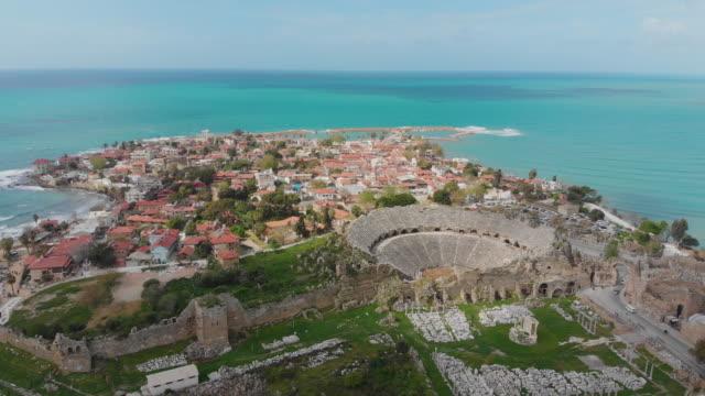 townscapen av side, antalya, turkiet - fornhistorisk tid bildbanksvideor och videomaterial från bakom kulisserna