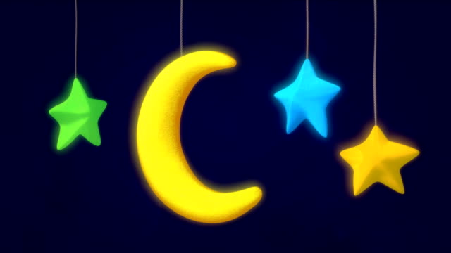 vídeos y material grabado en eventos de stock de juguete luna y las estrellas - recién nacido 0 1 mes