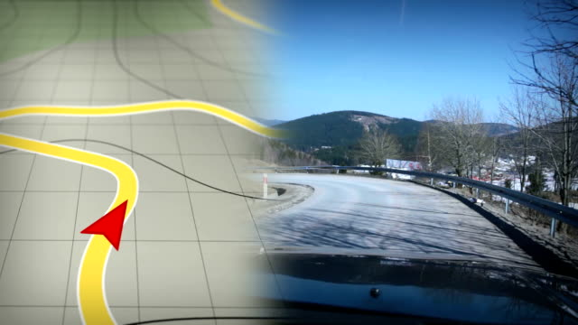 gps-tracking. hd - gps stock-videos und b-roll-filmmaterial