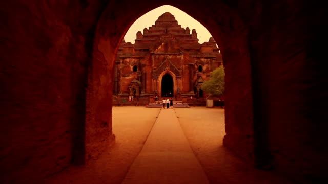 Tracking shot of a temple entrance in Bagan, Myanmar Tracking shot of a temple entrance in Bagan, Myanmar. bagan stock videos & royalty-free footage