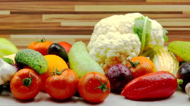 Tracking Shot of Fresh Organic Vegetables video
