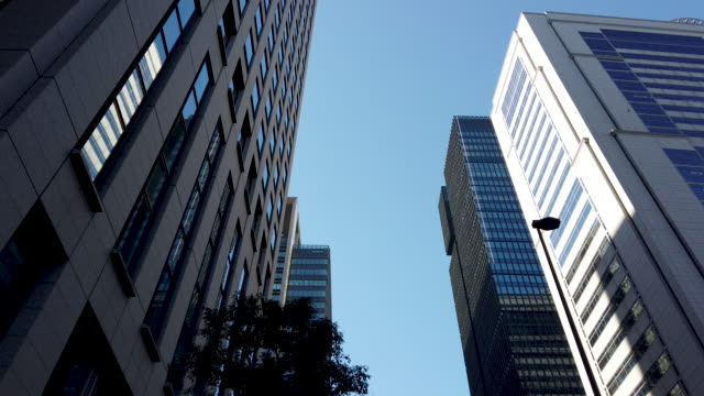 Tracking Shot . Tokyo Cityscape Office Background . Tracking Shot . Tokyo Cityscape Office Background . low angle view stock videos & royalty-free footage