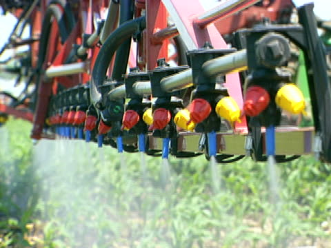 Tractor Nozzles Spraying video
