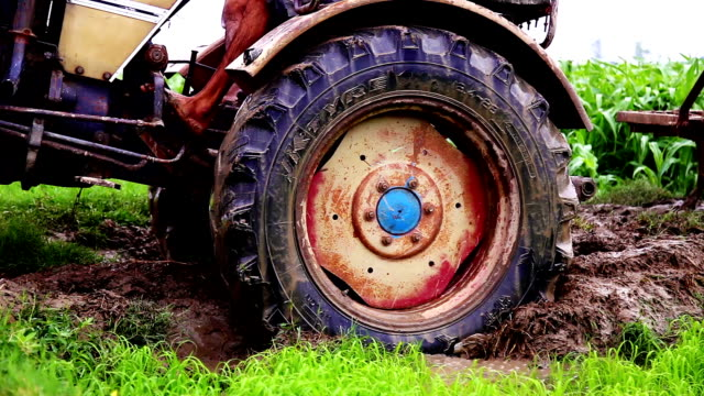 Tractor stuck in mud video