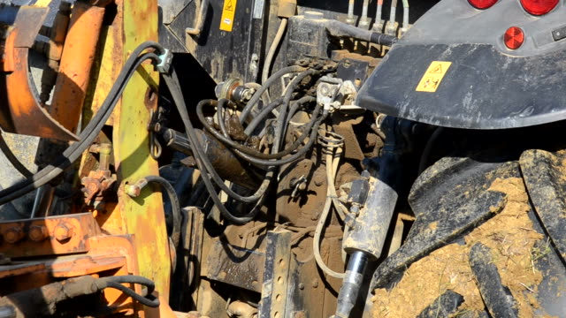 Tractor that plows the ground View of tactor that plows the ground grooved stock videos & royalty-free footage