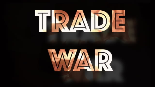 Trade war instability computer graphic