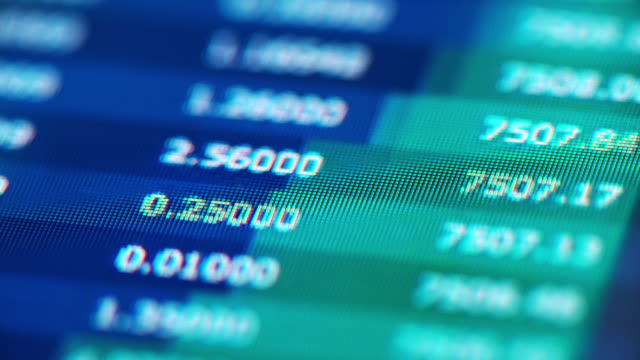 stockvideo's en b-roll-footage met trading grafieken close-up op digitale display. time lapse-video - bitcoin