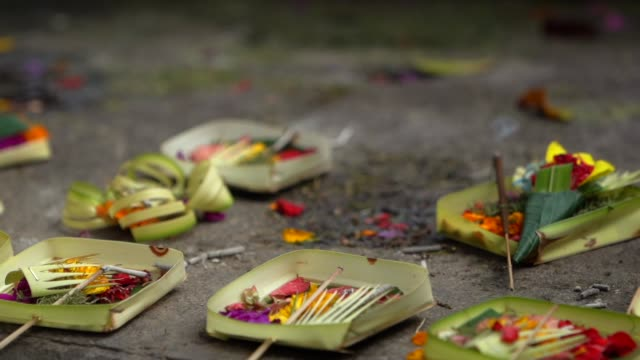 Traditional Balinese gods offerings