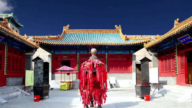traditional buddhist temple, beijing, china - ming video stock e b–roll