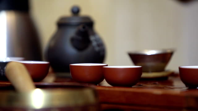 Traditional chinese tea ceremony video
