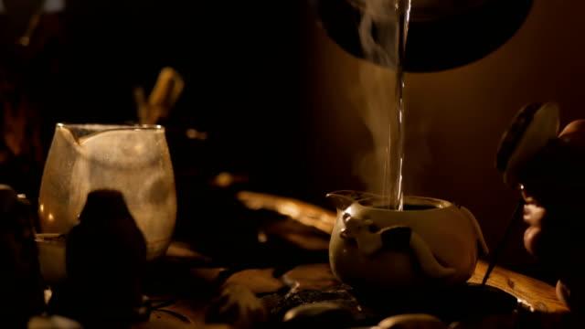 traditional chinese tea ceremony - tradycja filmów i materiałów b-roll