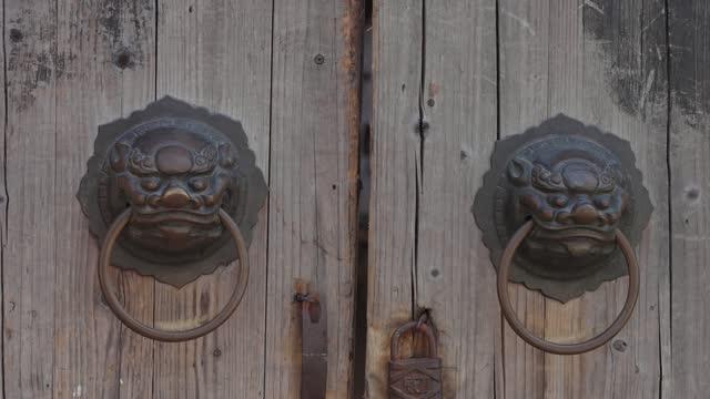 Traditional Chinese wooden door