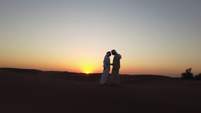 traditional greeting - arabs in the desert - ramadan stock videos and b-roll footage