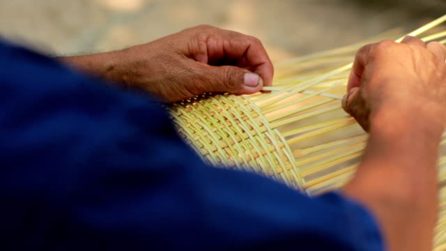 Traditional hand made of wicker video