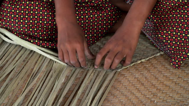 Traditional hand made of wicker. video