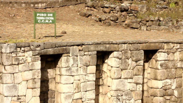 Traditional Inca wall and oven video