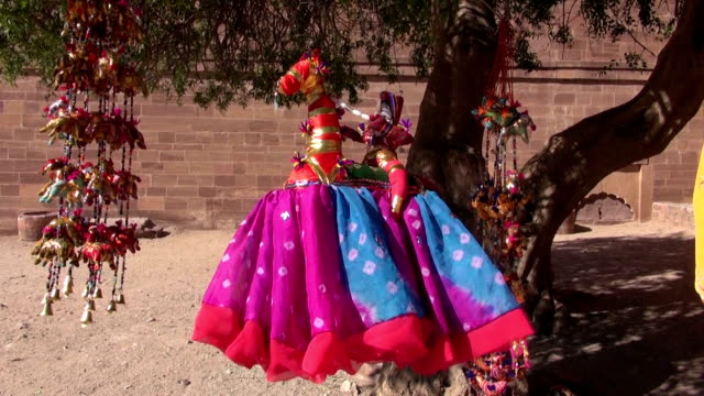 traditional indian puppets cloth dolls in Jodphur fort, Rajasthan, India Jodhpur, India,December 17: traditional indian puppets cloth dolls in Jodphur fort in December 17, Jodhpur, Rajasthan, India marionette stock videos & royalty-free footage