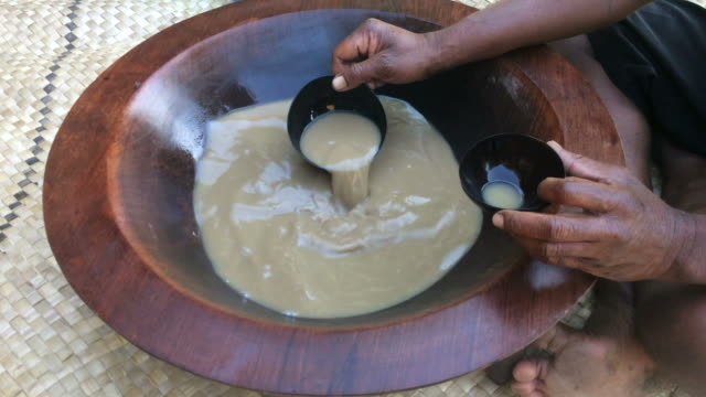 Traditional Kava drink the national drink of Fiji video