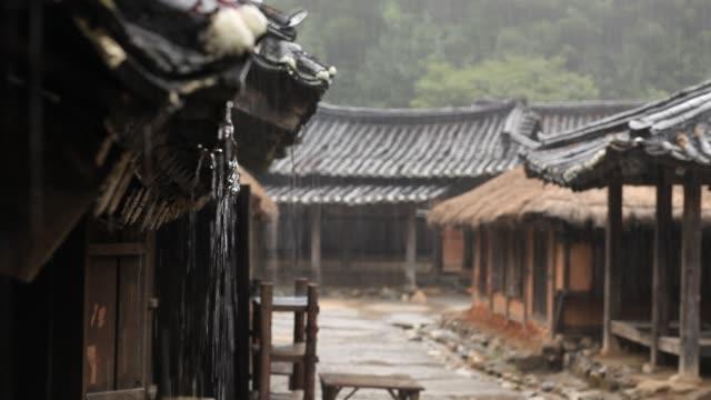 traditional korean house - cultura coreana video stock e b–roll