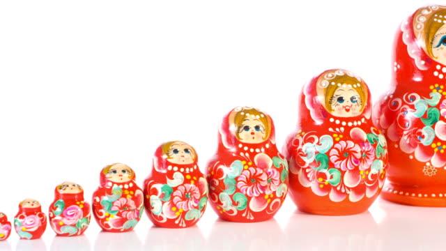 Traditional Russian Matryoshka video