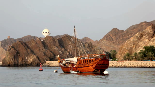 Traditional ship in Muscat, Oman video