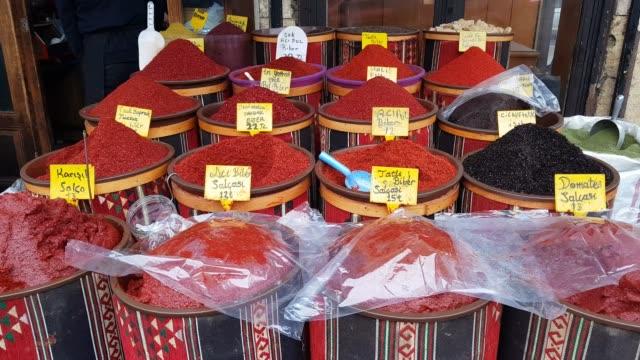 Traditional Shops in an Old Bazaar in Eastern Turkey. Traditional Shops in an Old Bazaar in Eastern Turkey. mardin stock videos & royalty-free footage