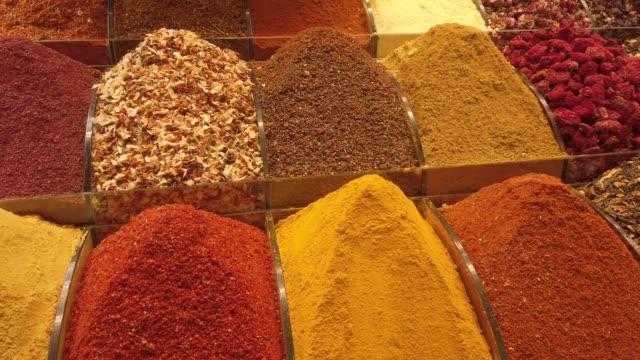 Traditional Spice Shop in an Old Bazaar in Turkey