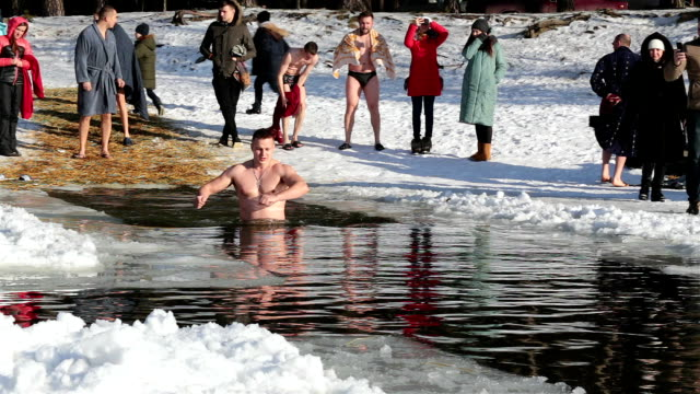 Traditional swimming at Epiphany frosts.
