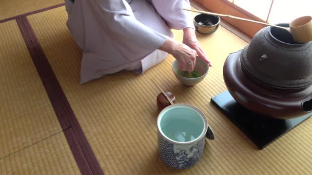 Traditional tea ceremony 'sado' 1 bulk 10/12 -4K- video
