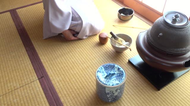 Traditional tea ceremony 'sado' 1 bulk 2/12 -4K- video