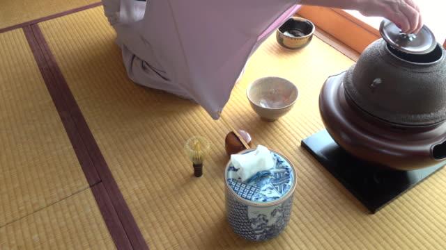 Traditional tea ceremony 'sado' 1 bulk 5/12 -4K- video