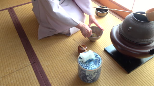 Traditional tea ceremony 'sado' 1 bulk 6/12 -4K- video