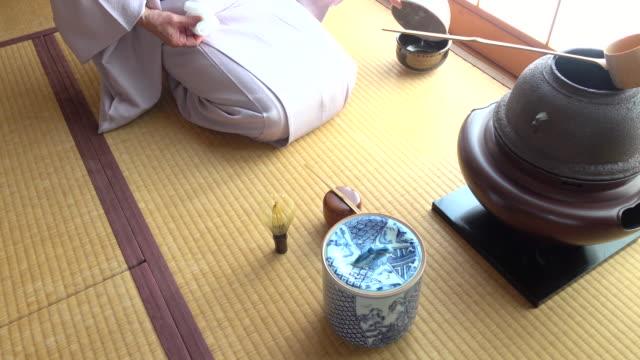 Traditional tea ceremony 'sado' 1 bulk 7/12 -4K- video