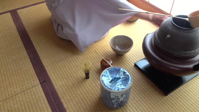 Traditional tea ceremony 'sado' 1 bulk 8/12 -4K- video