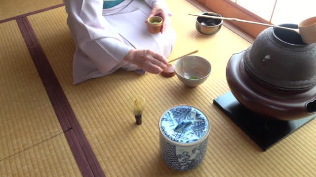 Traditional tea ceremony 'sado' 1 bulk 9/12 -4K- video