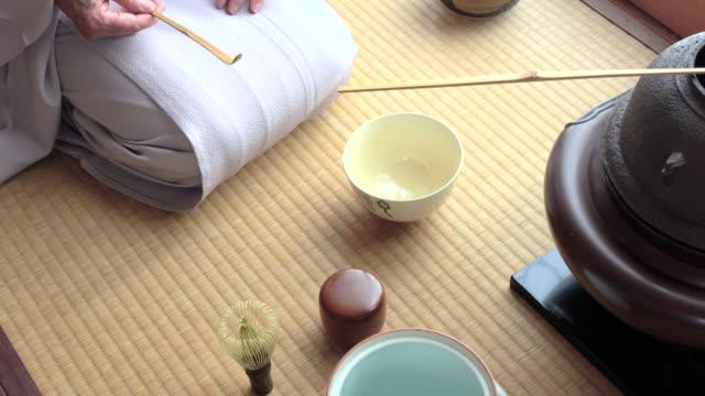 Traditional tea ceremony 'sado' 2 bulk 1/4 -4K- video