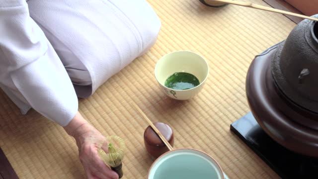 Traditional tea ceremony 'sado' 2 bulk 3/4 -4K- video