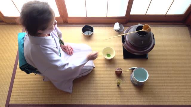 Traditional tea ceremony 'sado' 4 bulk 10/12 -4K- video