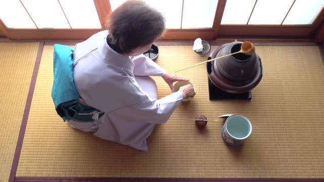 Traditional tea ceremony 'sado' 4 bulk 11/12 -4K- video