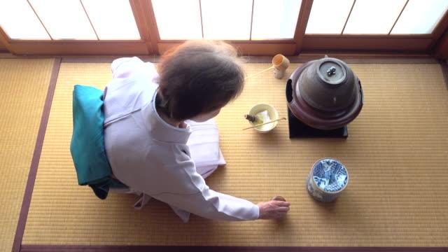 Traditional tea ceremony 'sado' 4 bulk 2/12 -4K- video
