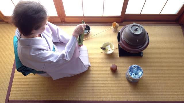 Traditional tea ceremony 'sado' 4 bulk 3/12 -4K- video