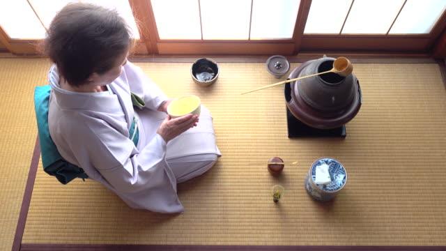 Traditional tea ceremony 'sado' 4 bulk 7/12 -4K- video